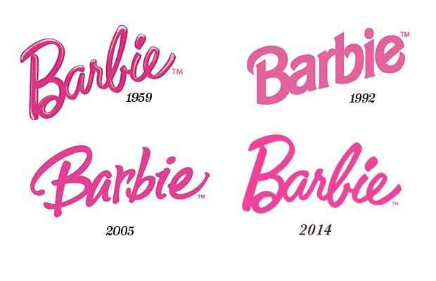 Barbie logo design evolution