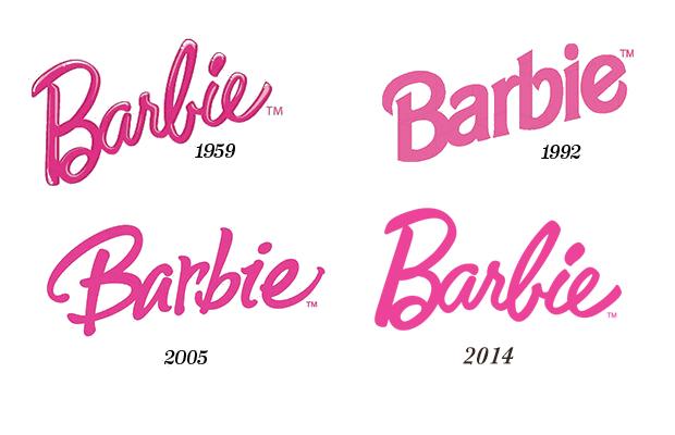 Barbie logo design evolution