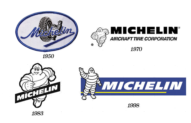 Michelin logo design evolution