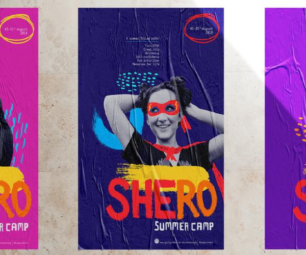 SHEro campaign poster set