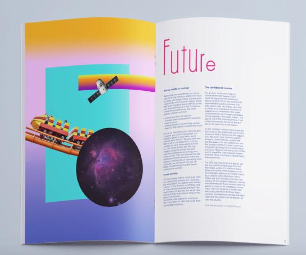 Creative Annual Report Spread