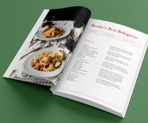 Cookbook spread