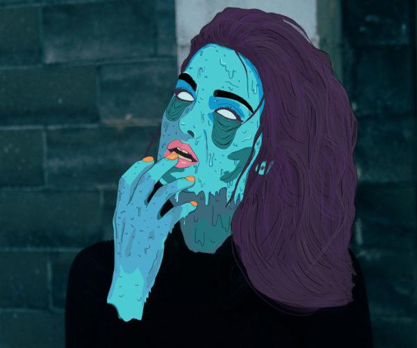 Vintage horror inspired Illustration
