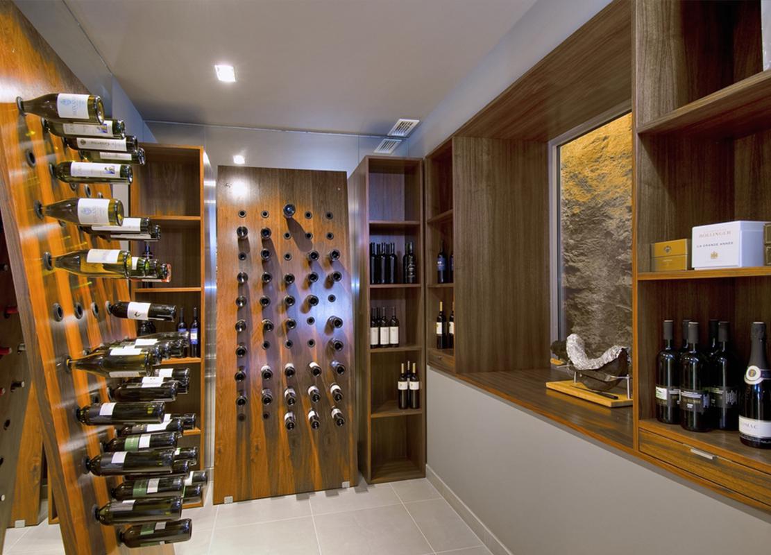 Villa Tiha wine cellar