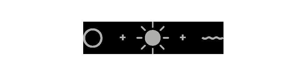 Design thinking - letter, sun & ocean