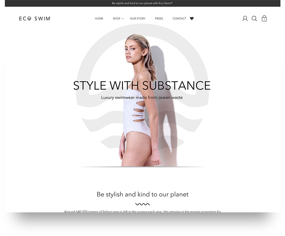 Eco Swim website design