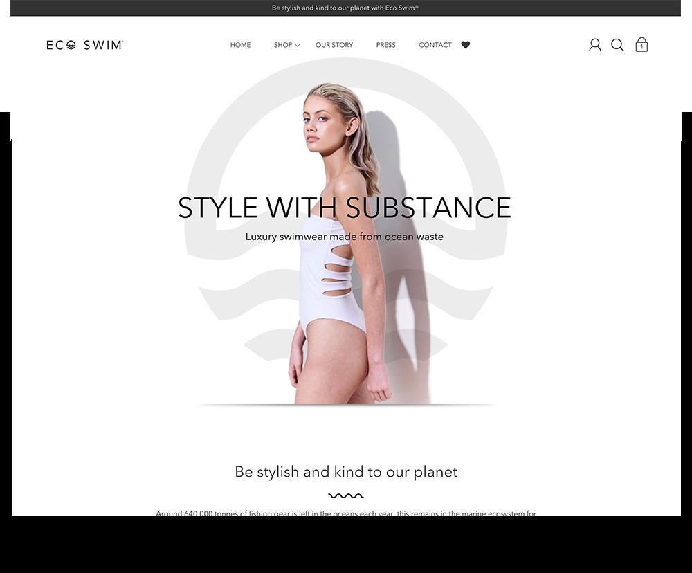Eco Swim website design