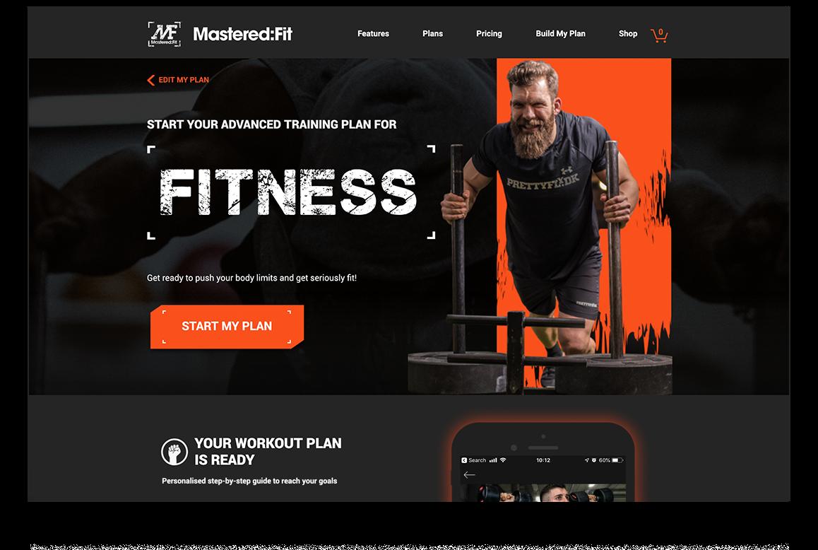 Mastered Fit website ui