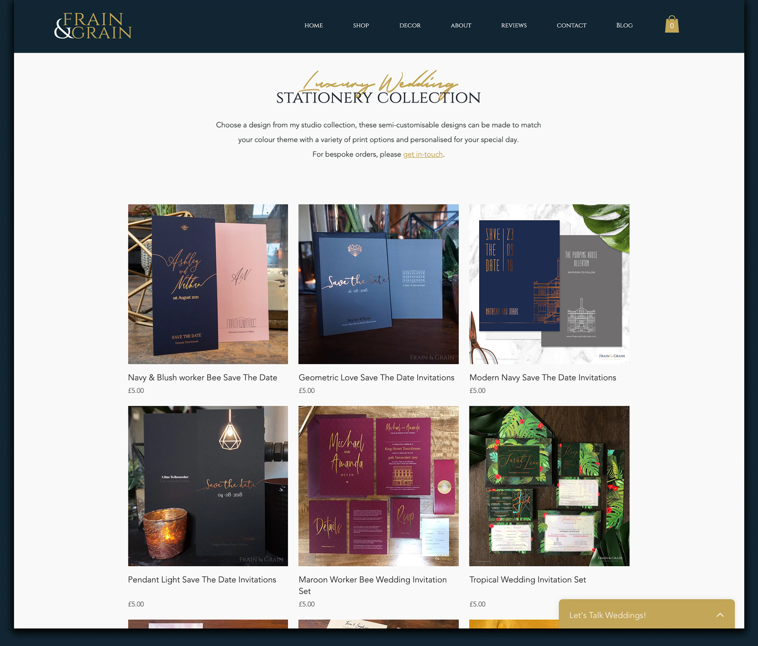 ecommerce product listing page