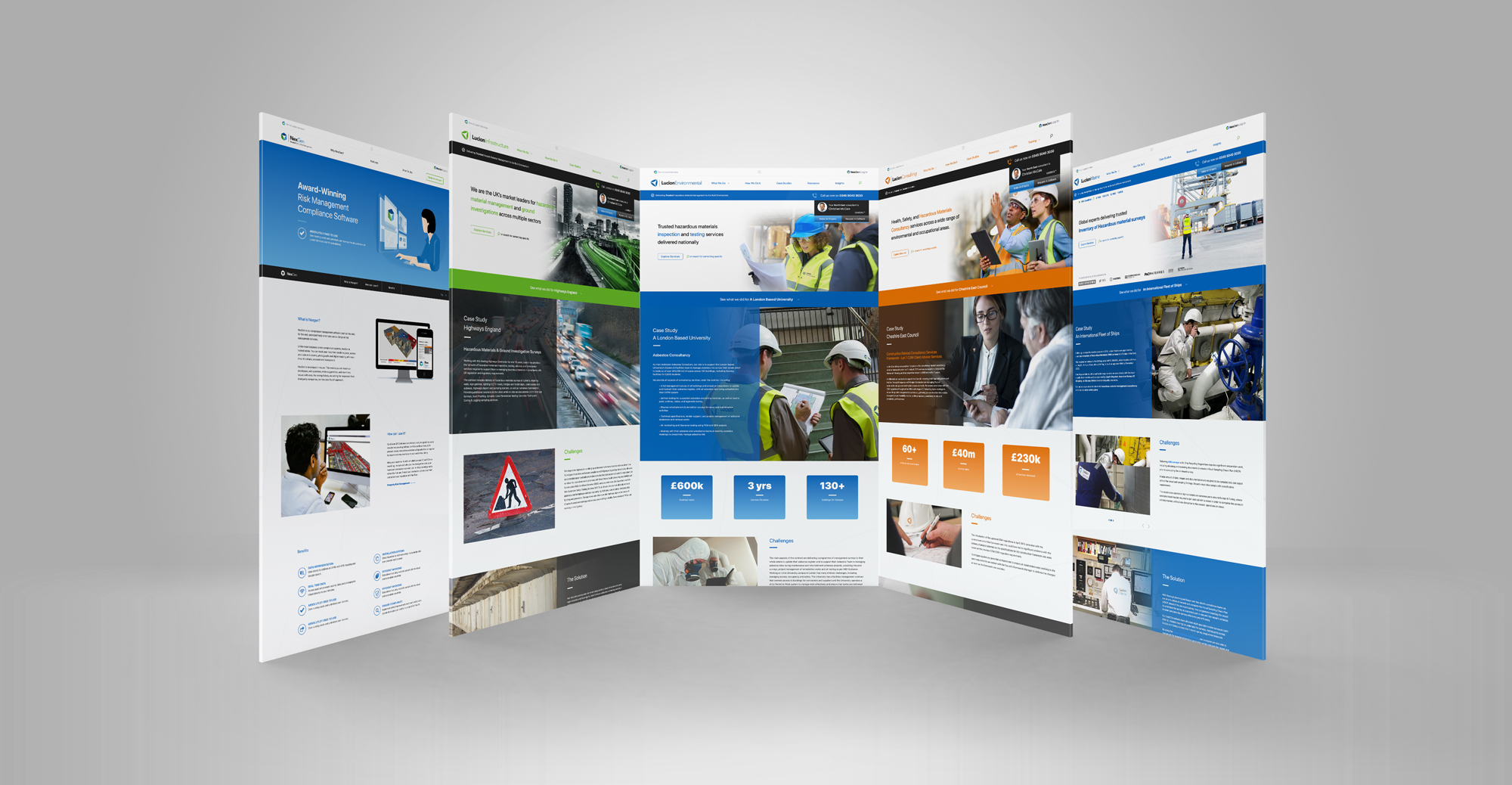 Lucion Services Family Of Websites by Awesome Creative Manchester